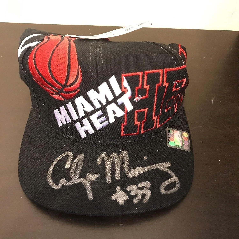 db5ec3bce Alonzo Mourning #33 Signed Autographed Miami Heat Hat Cap COA - PSA ...