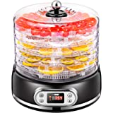 VIVOHOME Electric 400W 5 Trays Round Food Dehydrator Machine with Digital Timer and Temperature Control for Fruit Vegetable M