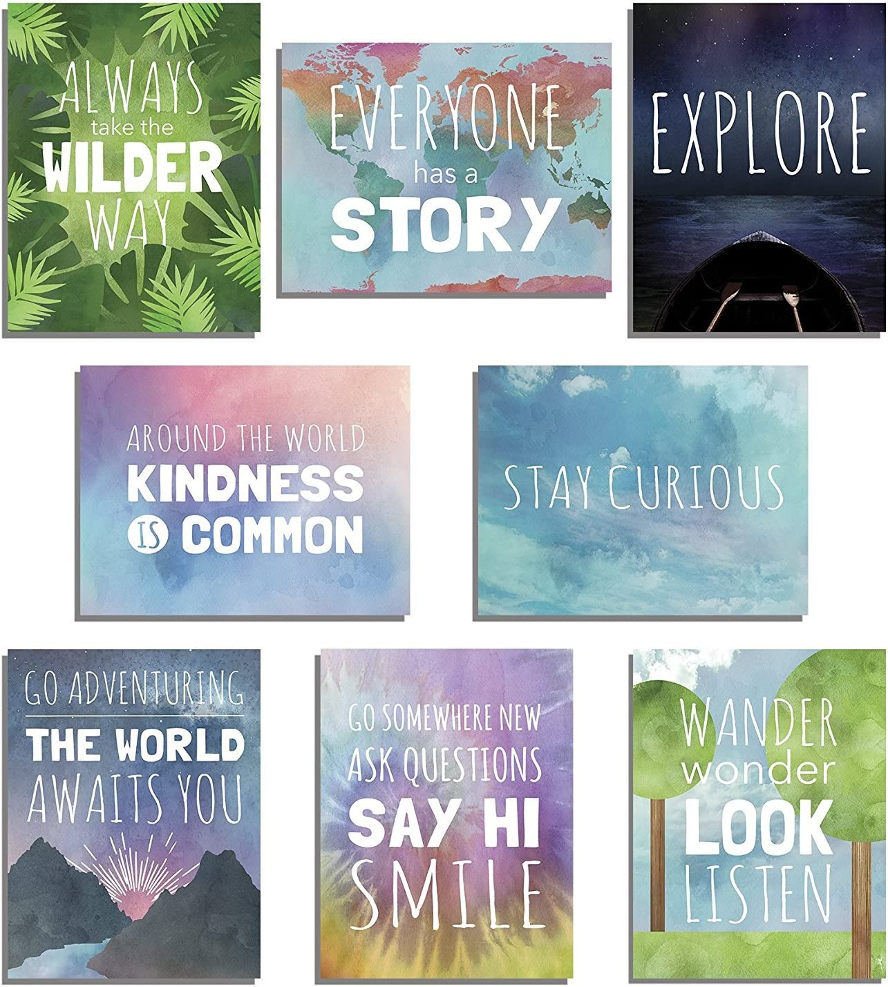 The World Mini Collection Wall Card Prints 08x10 Inch Print, Inspirational Phrases, Motivational Wall Quotes, Wall Decoration