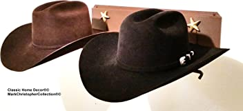 9c7d6b5b843 Mark Christopher Collection American Made Cowboy Hat Holder Brim Up with  Gold Stars 6622