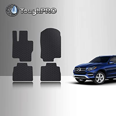 TOUGHPRO Floor Mat Accessories Set (Front Row + 2nd Row) Compatible with Mercedes-Benz GLE - All Weather - Heavy Duty - (Made in USA) - Black Rubber - 2020: Automotive