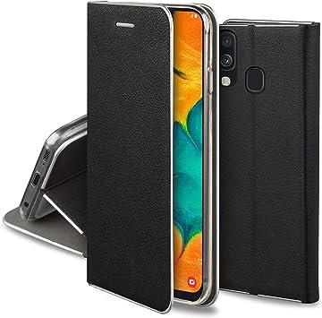 Moozy Funda con Tapa para Samsung A30, Samsung A20, de Cuero PU ...