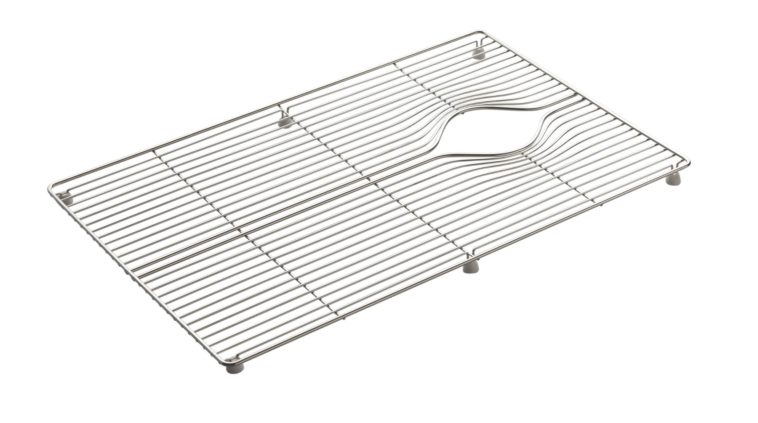Kohler K-6129-ST Indio Bottom Basin Rack for Single Basin, Stainless Steel