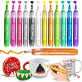 Paint Pens Acrylic Markers, ZSCM 12 Colors Paint Markers for Christmas Ornaments DIY Crafts, Metallic Art Marker, for…