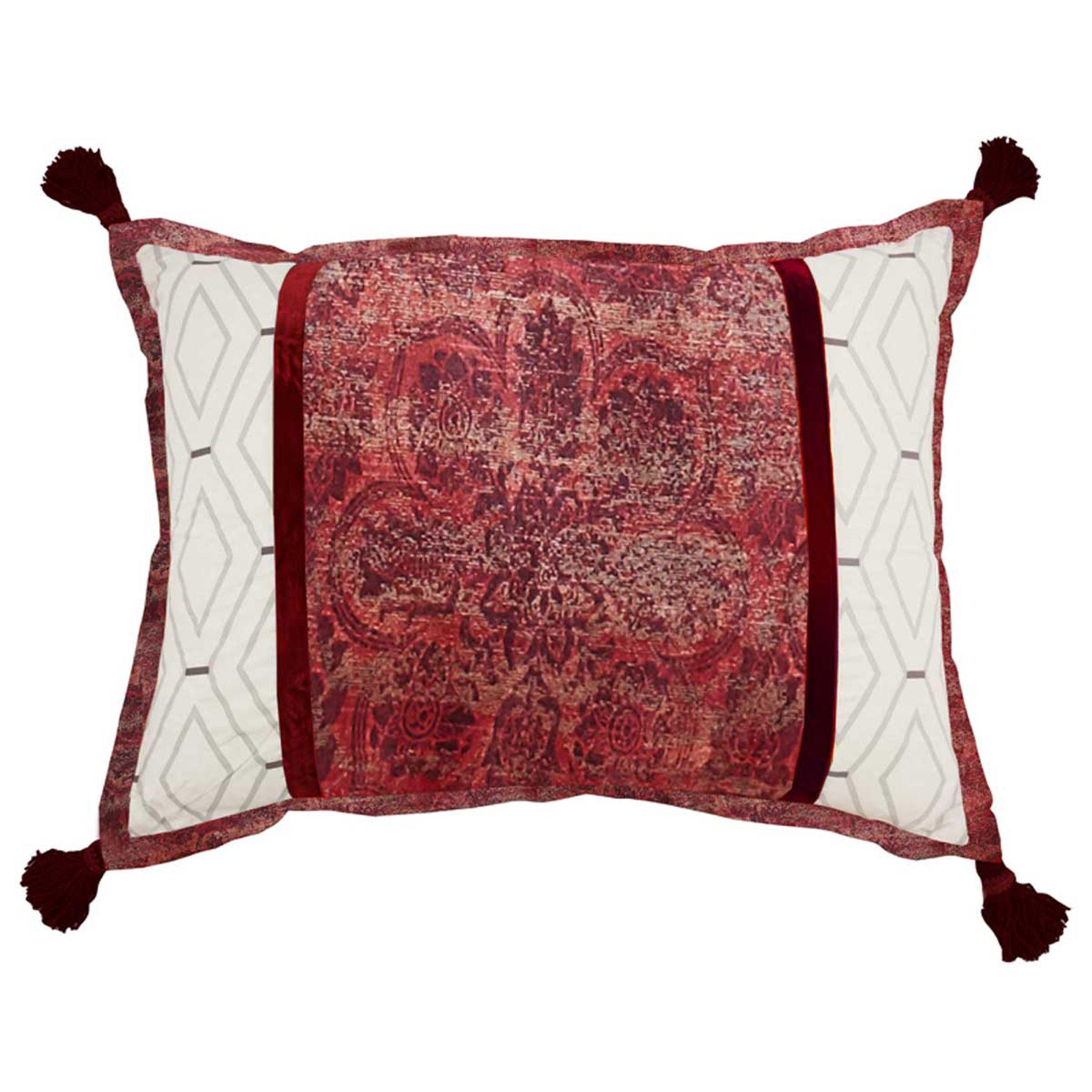 WAVERLY Fresco Flourish Decorative Pillow, 14x20, Jewel