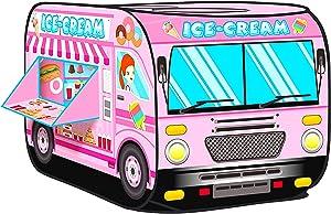 UrbanRed Ice Cream Cart - Ice Cream Truck Toy, Ice Cream Truck for Kids, Ice Cream Cart for Kids, Kids Ice Cream Cart, Ice Cream Toys for Kids, Ice Cream Shop Toys for Kids (ice Cream Truck)