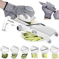 Mandolin Slicer,MILcea 3-in-1 Upgraded Stainless Steel Mandoline Slicer Adjustable Kitchen Food Vegetable Chopper Slicer Cutter for Fruits &Vegetables from PaperThin to 9mm(Safety Gloves Included)