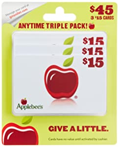 Applebee'sGift Cards, Multipack of 3