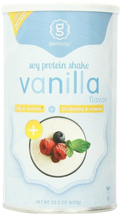 Genisoy - soja proteína batido sabor vainilla - 22,2 oz.
