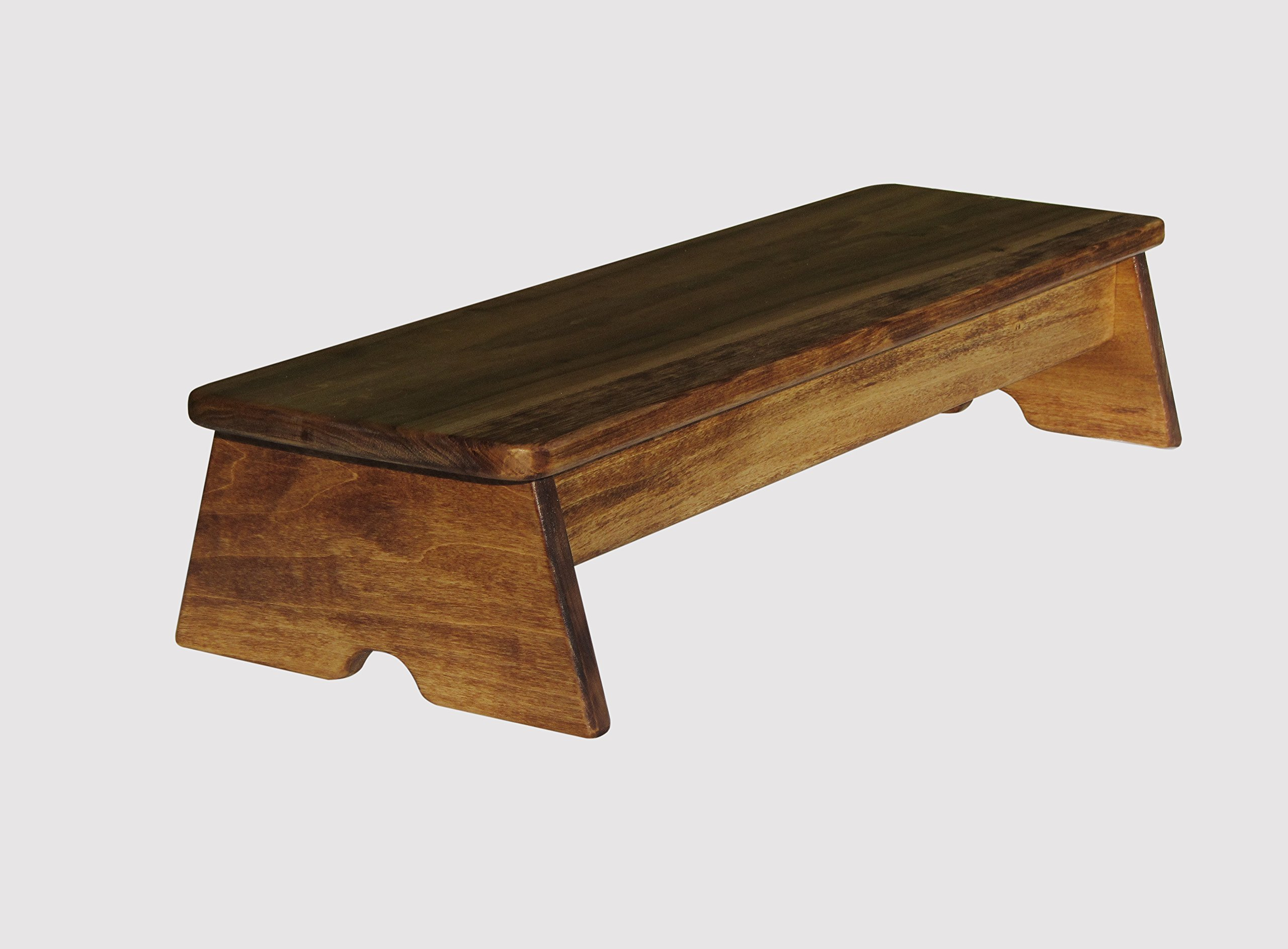 Stability Bedside Foot Stool 6'' Tall (Made in the USA) (Maple Stain - 6'')