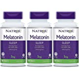 Natrol Melatonin Timed Release Tablets, 3mg 100 Count (Pack of 3)