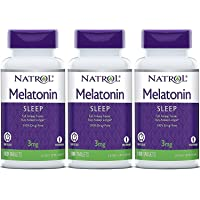Natrol Melatonin Timed Release Tablets, 3Mg 100 Count (Pack Of 3) Packaging May Vary