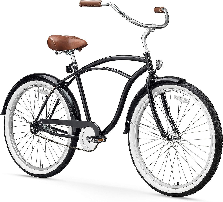 sixthreezero - Bicicleta de Playa para Hombre con Ruedas de 26 ...