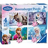 Ravensburger 07360 - Disney Die Eiskönigin: Puzzle-Set - 12 + 16 + 20 + 24 Teile Kinderpuzzle
