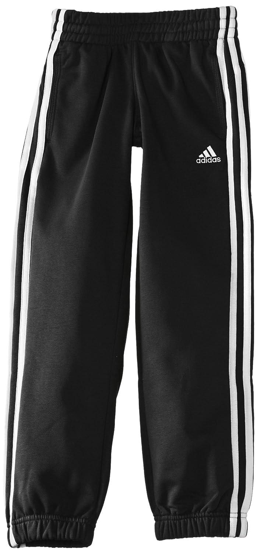 Adidas Essentials - Pantalone lungo tuta da ginnastica da uomo, 3 strisce, Nero (nero/bianco), 116 551201425