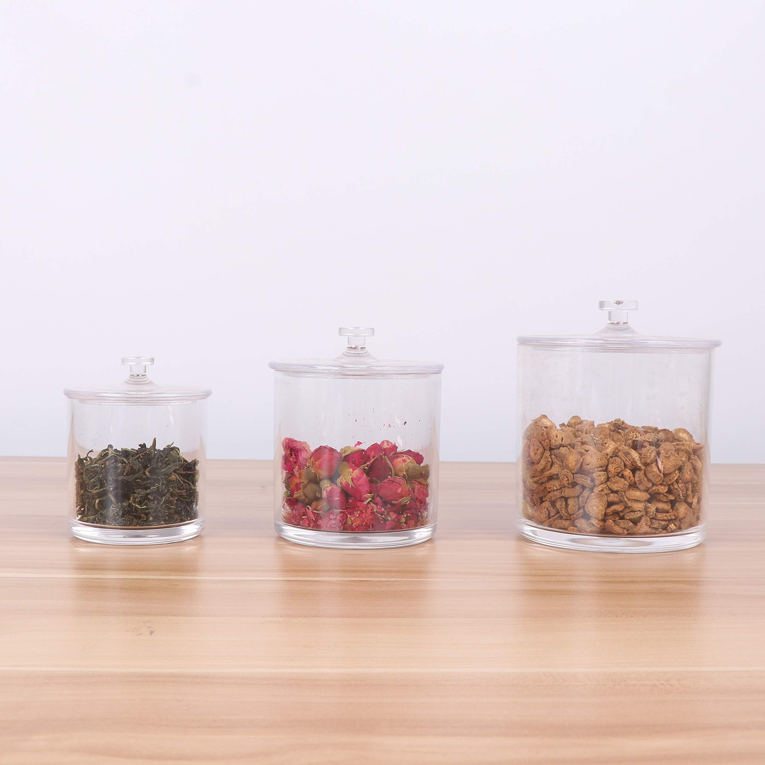 Apped Premium Quality Clear Acrylic Apothecary Jars   Set of 3