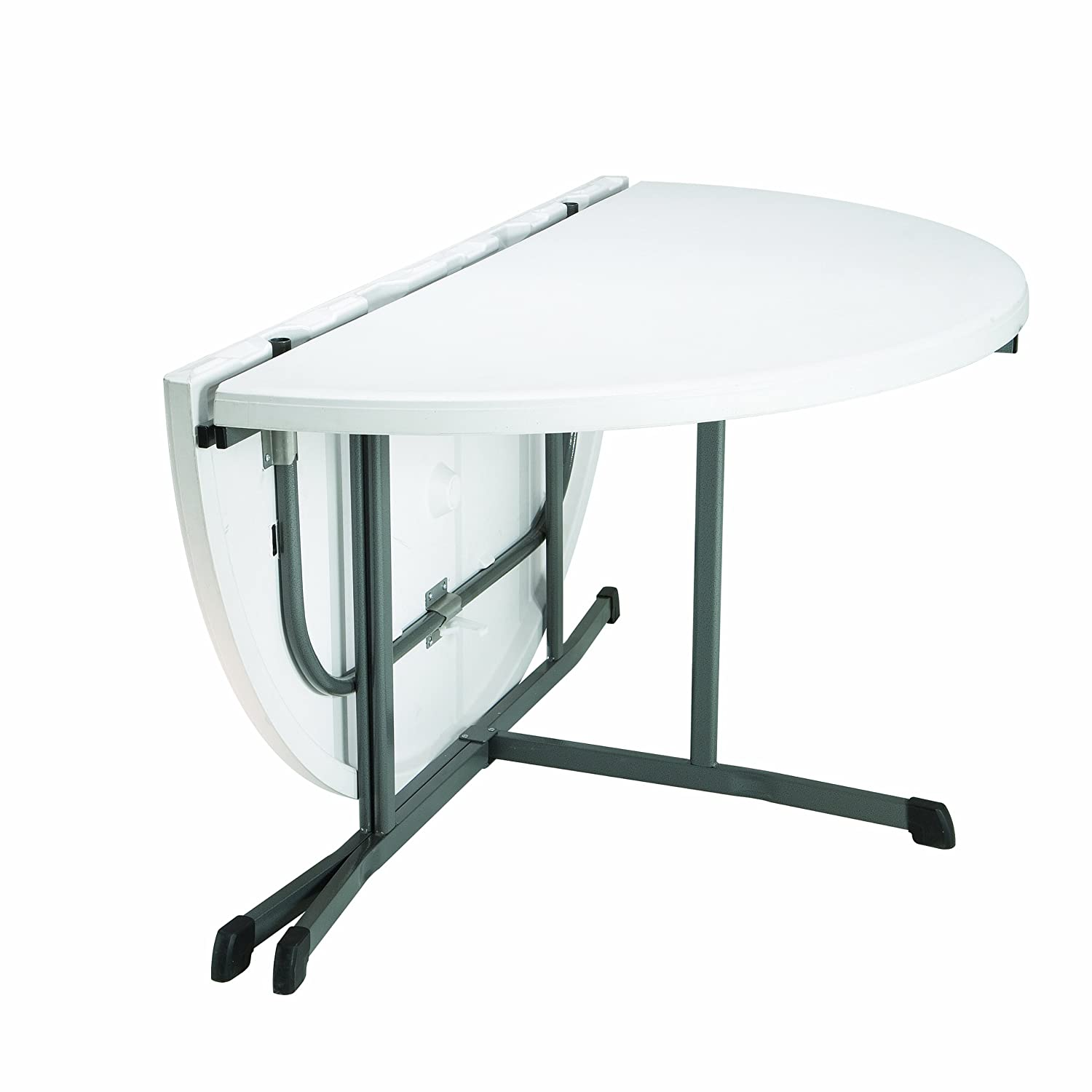Gentil Amazon.com: Lifetime 25402 Commercial Round Fold In Half Table, 5 Feet ,  White Granite: Garden U0026 Outdoor