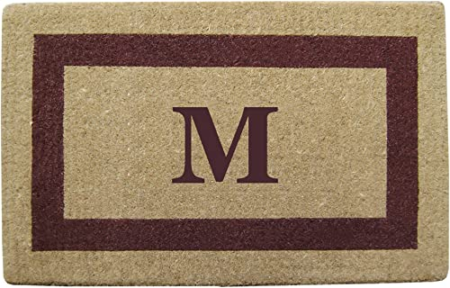 Heavy Duty 38 x 60 Coco Mat Brown Single Picture Frame, Monogrammed M