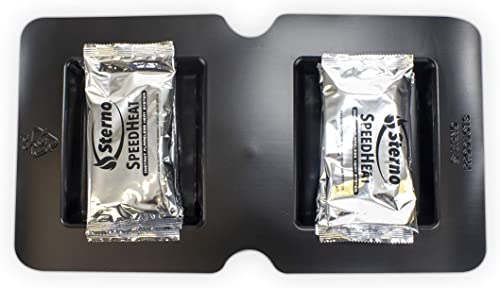 Sterno SpeedHeat Flameless Food Warming System Tray and Packet Refills, 3 Pack