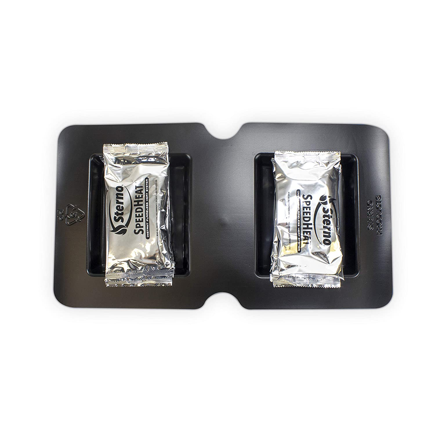 Sterno 70356 SpeedHeat Flameless Food Warming System Tray and Packet Refills, 3 Pack