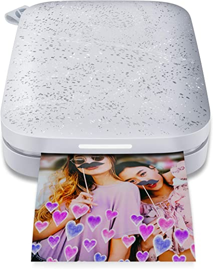 HP Sprocket Portable Photo Printer (2nd Edition) – Instantly Print 2x3 Sticky-Backed Photos from Your Phone – [Luna Pearl] [1AS85A], Small
