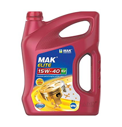 Mak Lubricants Elite Api Sj 15w 40 Petrol Engine Oil For Cars 3 L Amazon In Car Motorbike