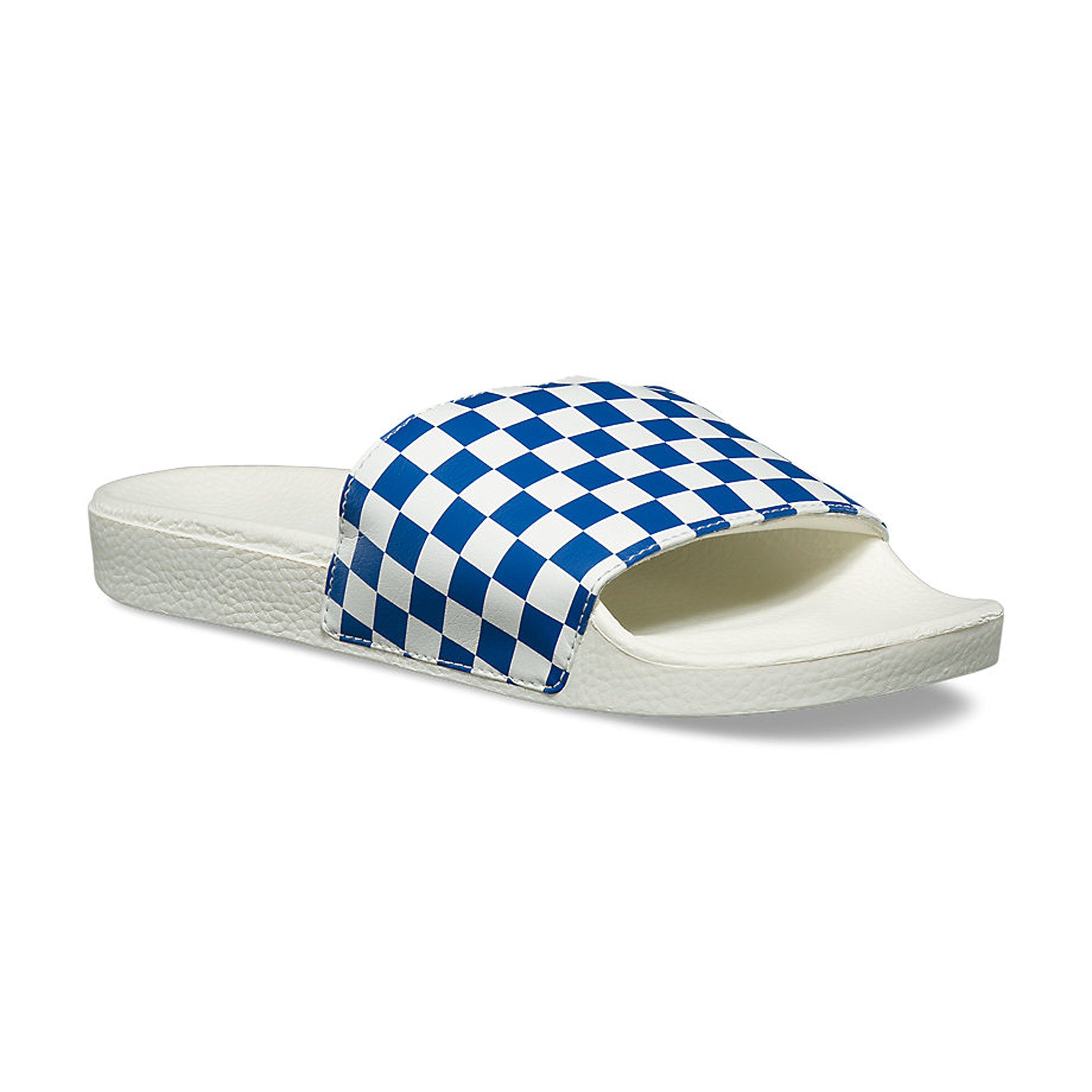 824252bb7672 Galleon - Vans Checkerboard Slide-On True Blue VN0004KIFBV Mens 8