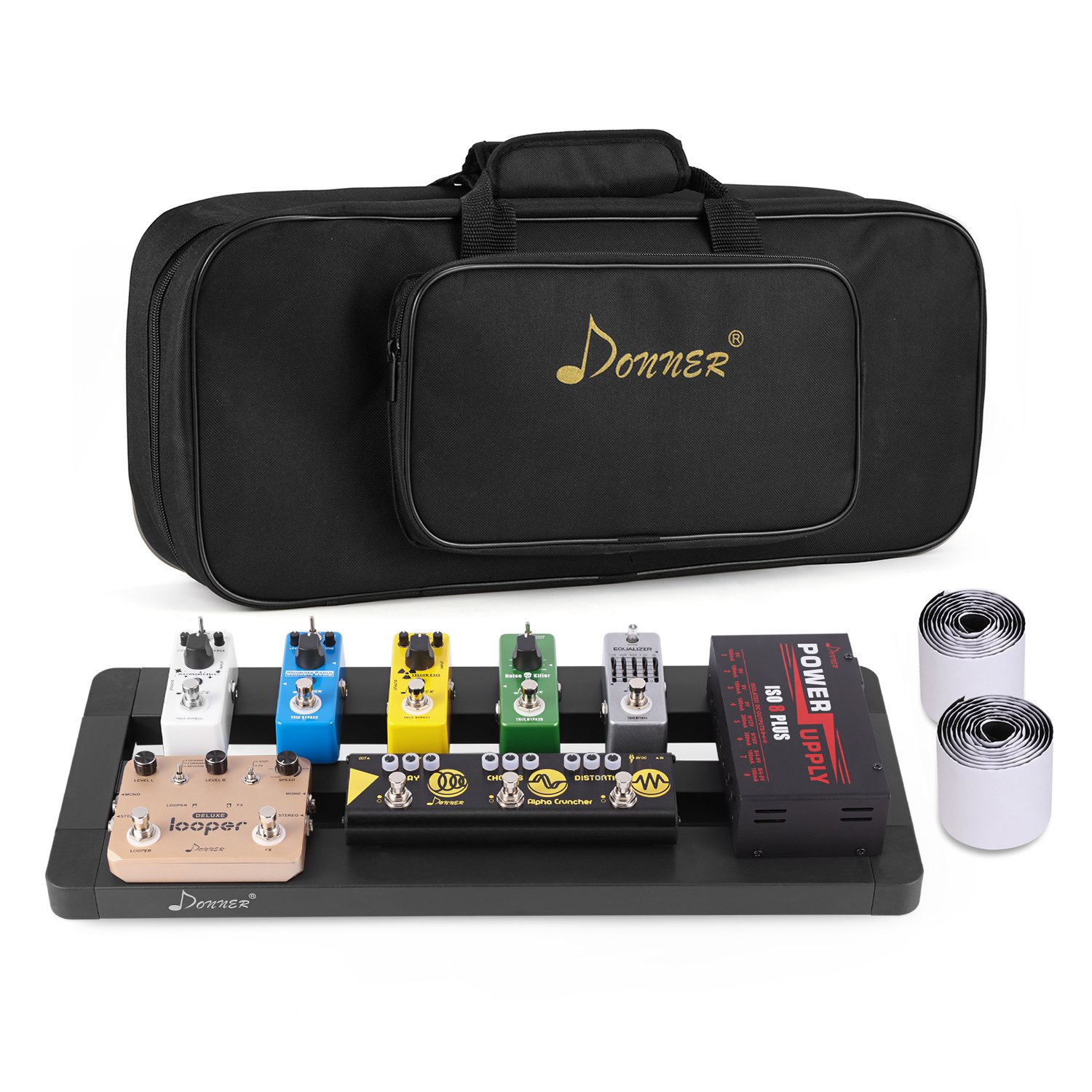 Donner Guitar Pedal Board Case DB-4 Disassembled Pedalboard with Bag
