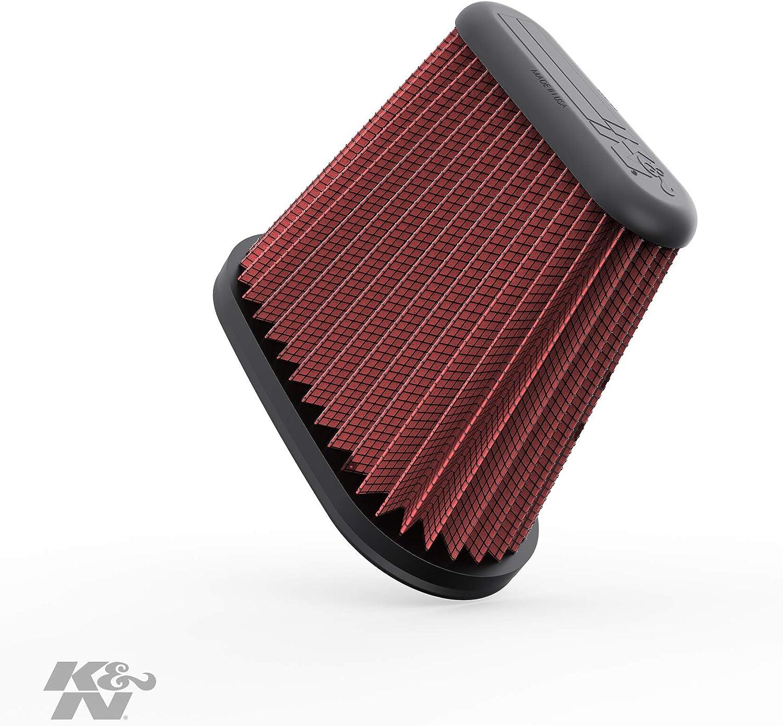 K/&N E-0665 Voitures Filtre /à air de Remplacement Lavable et R/éutilisable