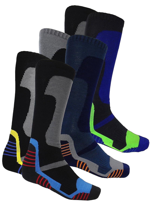 Multi Pack Winter Soft Thermal Padded Long Ski Socks Hiking Walking Cycling New Location
