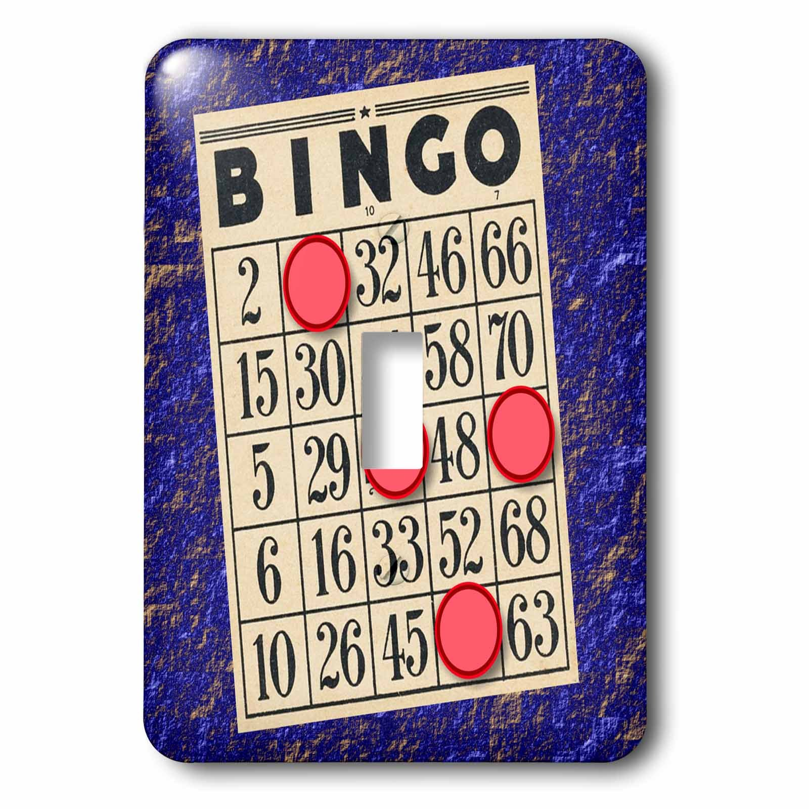 TNMGraphics Games - Playing Bingo - Light Switch Covers - single toggle switch (lsp_238273_1)