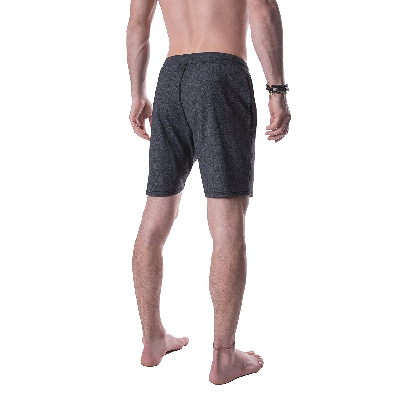 b13214203a Yoga Crow Mens Pocketless Swerve Shorts w/Odor-Resistant Inner Liner  (Medium, Heather Grey): Amazon.co.uk: Clothing
