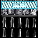 Clear Coffin Nail Tips - Clear Acrylic Nail Tips, 500pcs Clear Tips for Acrylic Nails, Half Cover False Nail Fake Nail…