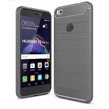 ELTD Huawei P8 LITE 2017 Funda, [Armor Series] funda carcasa case para Huawei P8 LITE 2017, Gris