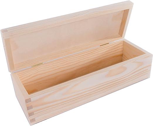 SearchBox - Caja Rectangular de Madera Mediana con Tapa abatible ...
