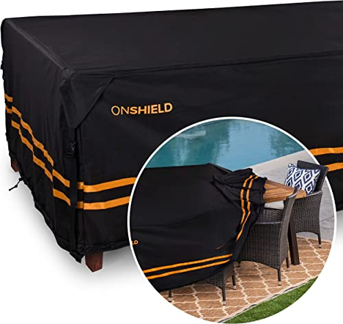 ONGUARD Patio Furniture Cover – 83 x 48 x 29 for Long Patio Table – Durable Outdoor Table Cover Waterproof Rectangular, Patio Table Cover – UV Protected Patio Dining Set Cover for All Seasons