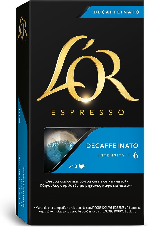 LOr Café Espresso Decaffeinato, Intensidad 6, 10 Cápsulas de ...