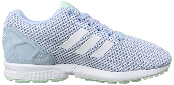 buy popular ff1e2 94c65 adidas Zx Flux, Womens Trainers, Bleu - Blue (Clear SkyFtwr WhiteFrozen  Green F15), 3.5 UK Amazon.co.uk Shoes  Bags