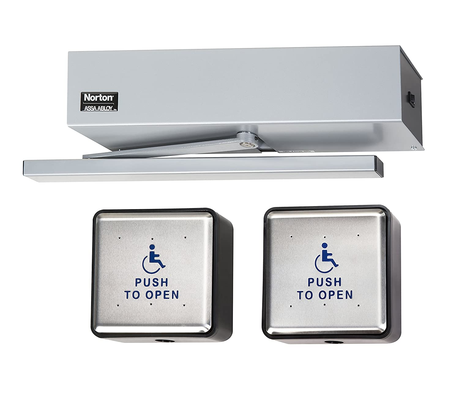 Norton Door Controls 5610RFIX531(2) x 689 5600 Series Aluminum Powered Door Closer ADA Activation Switch Included Aluminum Finish Amazon.com Industrial ...  sc 1 st  Amazon.com : norton door operator - pezcame.com