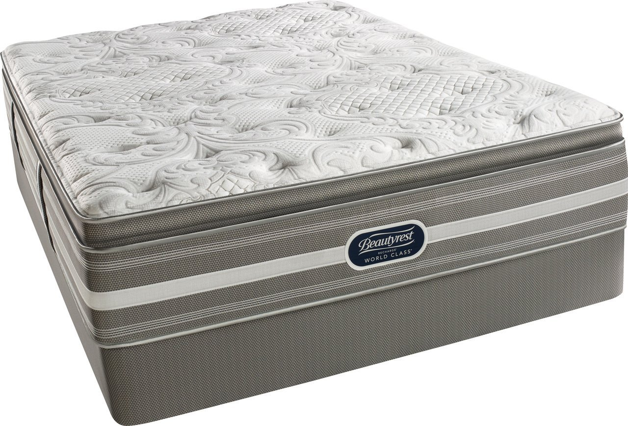 Beautyrest Recharge World Simmons Class Coral Plush Pillow Top Mattress Set