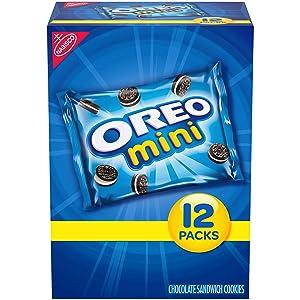 OREO Mini Chocolate Sandwich Cookies, 12 - 1 oz Snack Packs