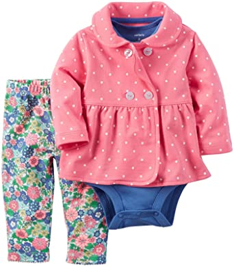 Amazon.com: Carter's Baby Girls Cardigan Sets 121h252, Pink ...