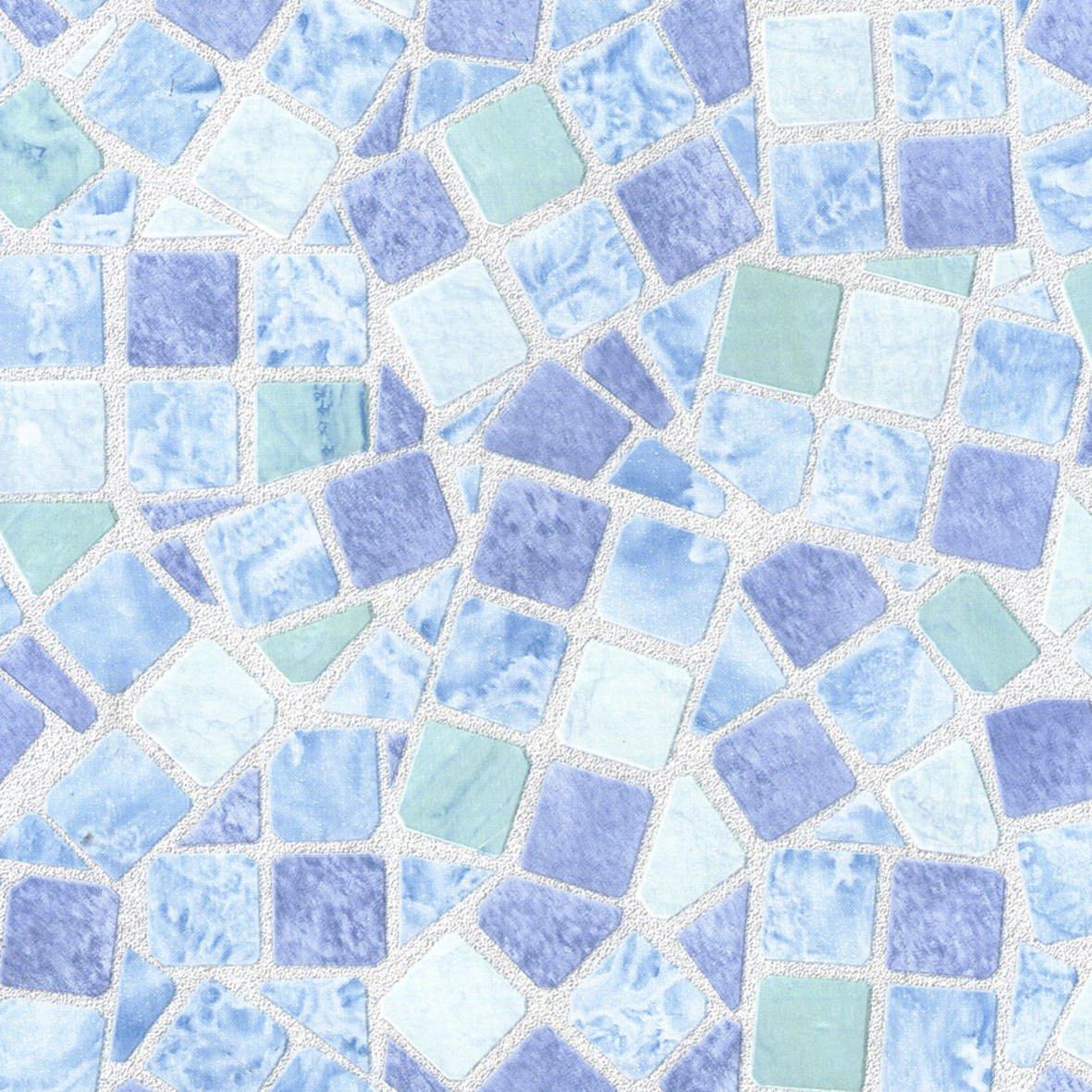 Venilia 53234Pellicola Adesiva Basic mosaico, PVC, Blu, 45x 150x 0,1cm Windhager