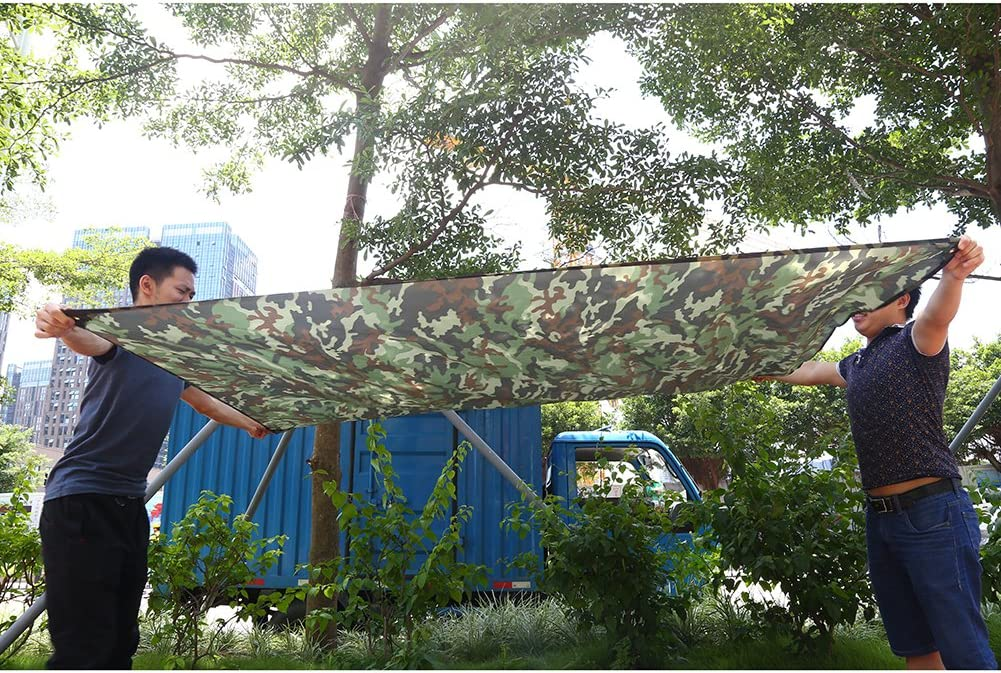 Camuflaje port/átil al Aire Libre Ligero y Resistente a la Lluvia Mat RainTent Tarp Shelter 3 * 2.9M Wandisy Refugio Impermeable para Acampar