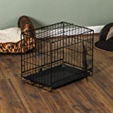 Home Discount Pet Cage With Tray, Folding Dog Puppy Animal Crate Vet Car Training Carrier Metal, 24 inch