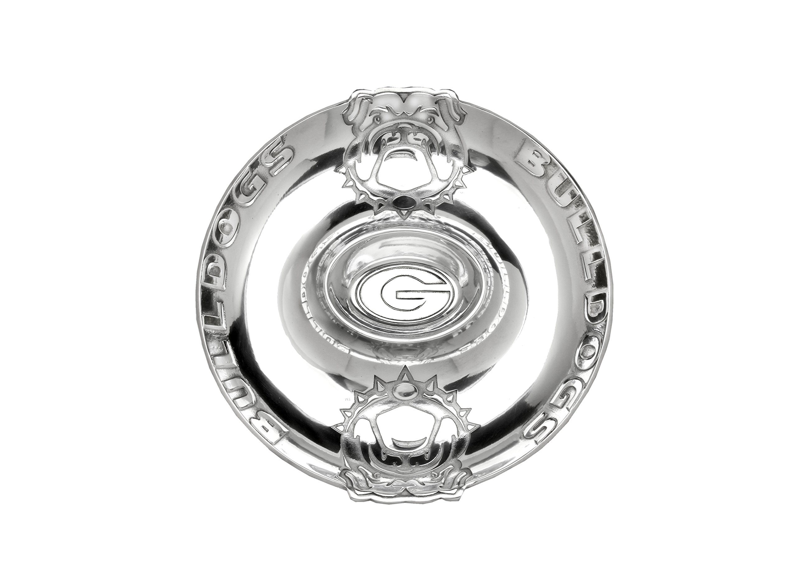 Aluminum University of Georgia Chip & Dip Serving Tray 14 inch Long by Arthur Court Designs by Arthur Court (Image #1)