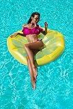 Luftmatratze Zitrone 135cm Badeinsel Schwimminsel Schwimmliege aufblasbar #3514