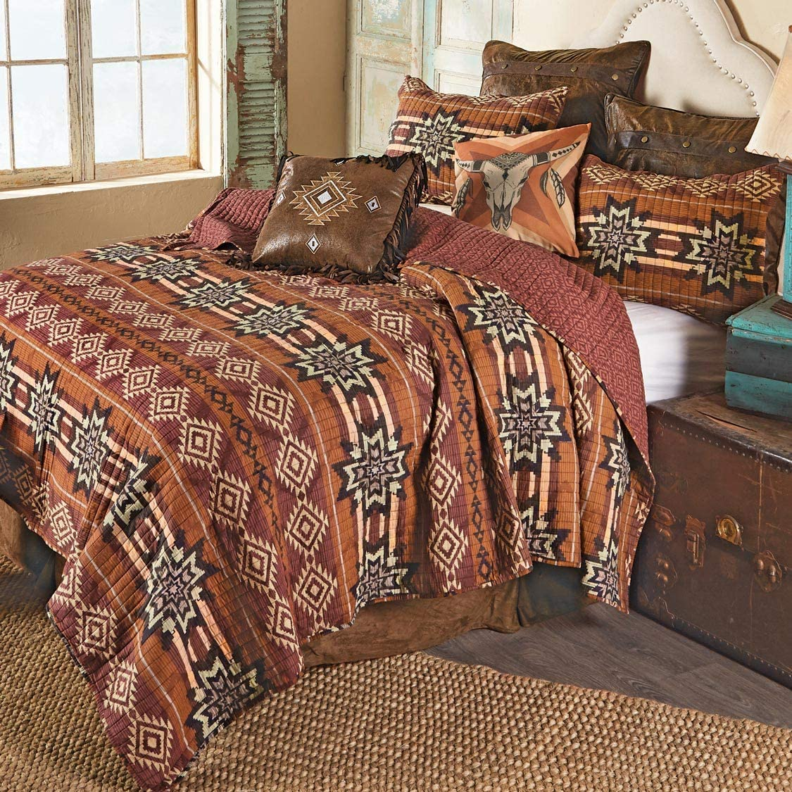 BLACK FOREST DECOR Sedona Sunset Quilt Set - Queen