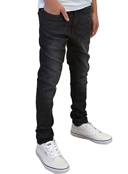 Art Class Boys Size 8 14 Skinny Jeans Faded Black Adjustable Waist Knee Detail
