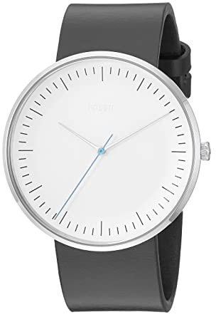 Fossil Mens The The Essentialist Stainless Steel Quartz Leather Strap, Black, 22 Casual Watch